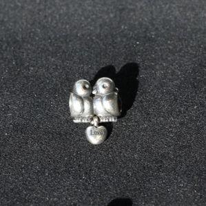 Pandora Love Birds silver charm